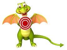 personnage-de-dessin-animé-mignon-de-dragon-avec-le-signe-de-cible-71790115